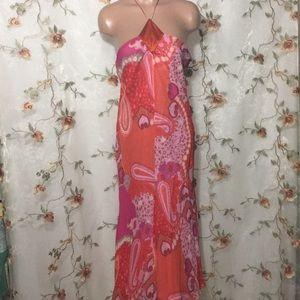 Banana Republic Paisley Print Halter Dress